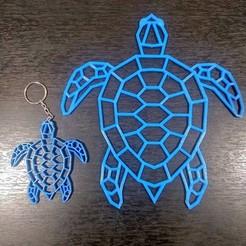 Llavero Tortuga 3.jpg Télécharger fichier STL Porte-clés Geometrico Tortuga • Plan pour imprimante 3D, samilena9215