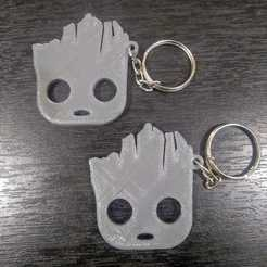 Groot.jpg Download STL file Baby Groot key ring • 3D printing model, samilena9215
