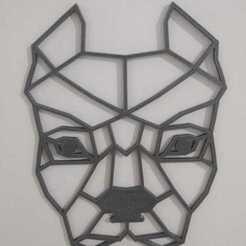 Download STL files Pitbull Dog Geometric, samilena9215