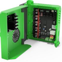 Descargar modelos 3D Caja SKR 1.3 + MOSFETS 20A, Alu 3030, DIY-printers