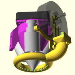 Download free STL Diamond Hotend Ring Part Cooler, spiritdude