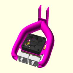 Télécharger fichier STL gratuit Extrusion double avec 2x CR10 / Micro Swiss Hotends avec refroidisseur de pièce • Objet pour impression 3D, spiritdude
