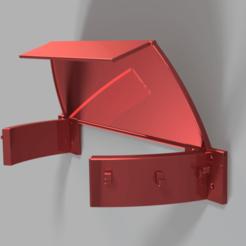 soporte v7.png Download free STL file Garbage bag holder on kitchen doors, with lid. • 3D printing model, Diego_Ochoa_Guerrero