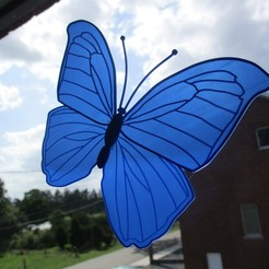 Download free 3D printer templates See through butterfly, Creatom
