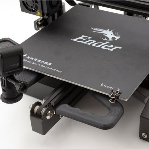 Download free 3D printing designs Handle and Camera Mount for Creality Ender 3 Modular R2 Y Carriage Plate, gulfcoastrobotics
