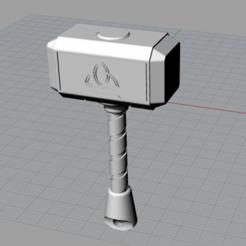 Martillo.png Télécharger fichier STL gratuit Porte-clés Hammer Thor • Objet pour impression 3D, Tuka73