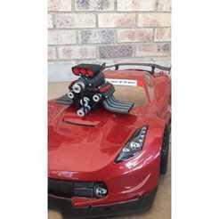 Impresiones 3D gratis Motor modelo 1:10 V8 RC (creación propia), mark43