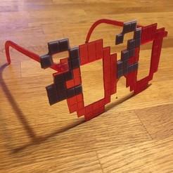 Télécharger plan imprimante 3D gatuit Lunettes 2020 (style pixel), jdamberg75