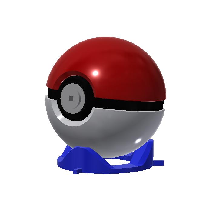 POKEBALL.png Download STL file Pokeball Puzzle • 3D printing template, 3DPrintersaur