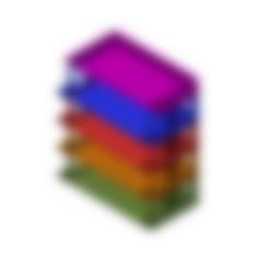 GLOVE BOX (XS).stl Télécharger fichier STL gratuit Porte-boîte à gants empilable • Objet pour imprimante 3D, 3DPrintersaur