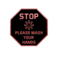 Download free 3D model COVID please wash your hands sign, 3DPrintersaur