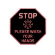 stop please wash your hands.png Descargar archivo STL gratis COVID, por favor, lávate las manos. • Plan para la impresión en 3D, 3DPrintersaur