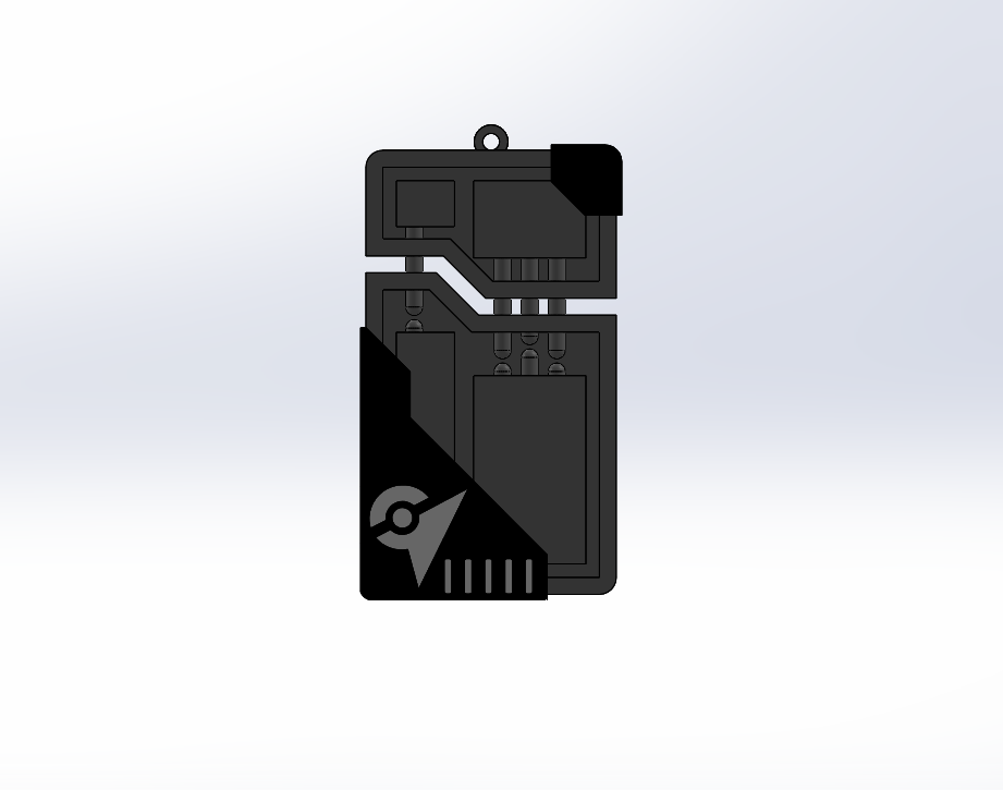 ex raid pass.png Descargar archivo STL Llavero de la Pokemon EX raid pass • Plan para la impresión en 3D, 3DPrintersaur