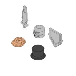 parts 2.png Download free STL file Roblox accesories  • 3D printer template, 3DPrintersaur