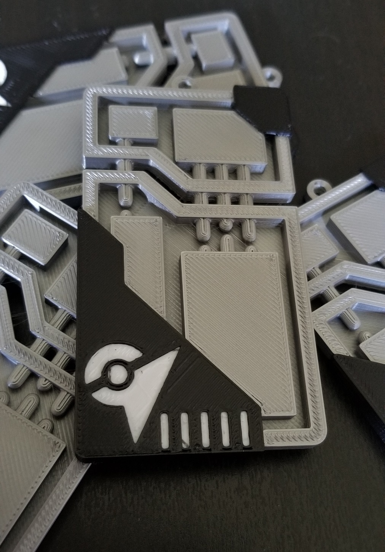 20200710_181842.jpg Descargar archivo STL Llavero de la Pokemon EX raid pass • Plan para la impresión en 3D, 3DPrintersaur