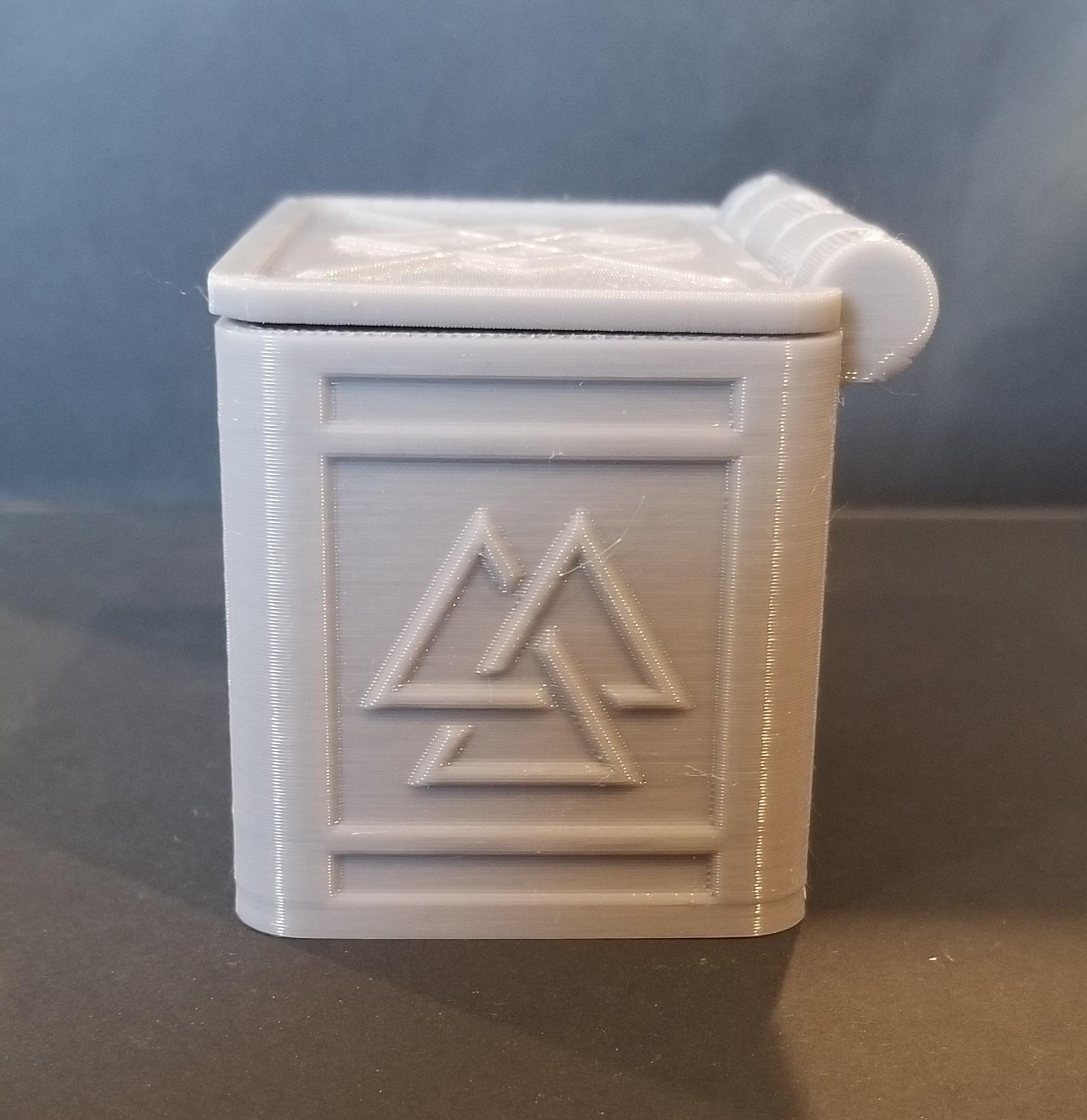 20200105_125844.jpg Télécharger fichier STL gratuit Boîte de runes nordiques avec couvercle (impression unique) • Modèle à imprimer en 3D, 3DPrintersaur