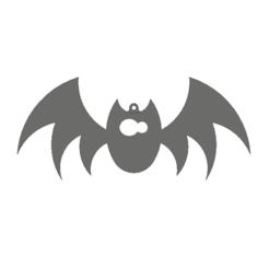 bat1.png Download free STL file Bat ornament • Object to 3D print, 3DPrintersaur