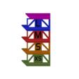 SIDE.png Télécharger fichier STL gratuit Porte-boîte à gants empilable • Objet pour imprimante 3D, 3DPrintersaur