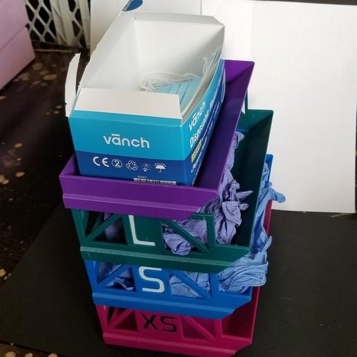 20200623_171255.jpg Télécharger fichier STL gratuit Porte-boîte à gants empilable • Objet pour imprimante 3D, 3DPrintersaur