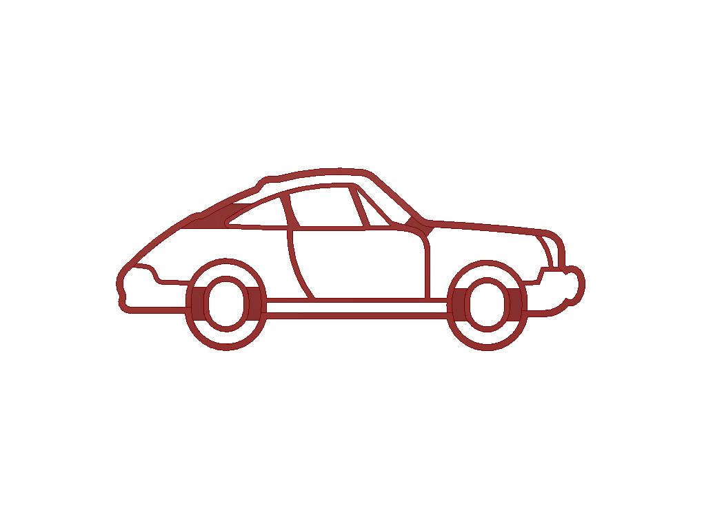car.png Descargar archivo STL Cortador de galletas Porsche 911 • Modelo para imprimir en 3D, 3DPrintersaur