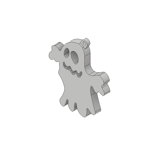 ghost2.png Download free STL file Ghost ornament • 3D printing object, 3DPrintersaur