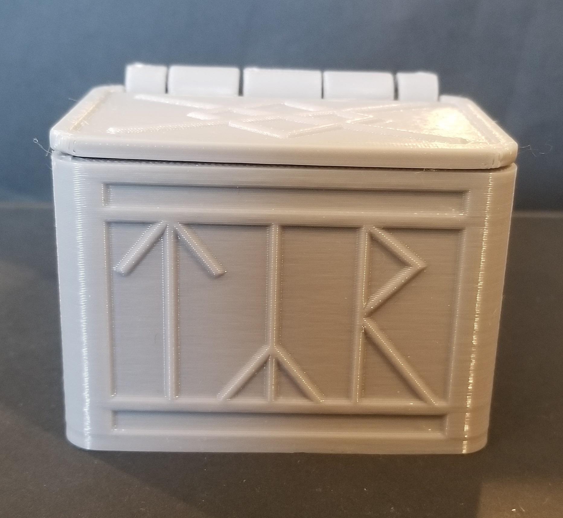 20200105_125824.jpg Télécharger fichier STL gratuit Boîte de runes nordiques avec couvercle (impression unique) • Modèle à imprimer en 3D, 3DPrintersaur