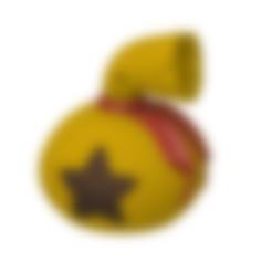 3D-01053 - ANIMAL CROSSING MONEY BAG.stl Descargar archivo STL Llavero de la bolsa de dinero de Animal Crossing • Plan de la impresora 3D, 3DPrintersaur