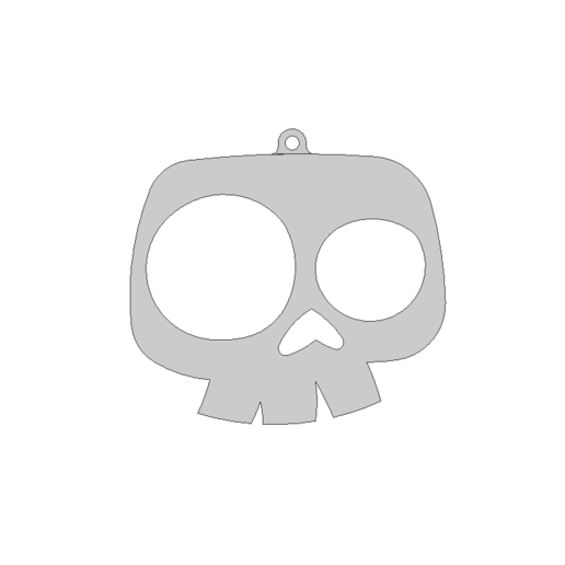 skull1.png Download free STL file Skull ornament • 3D printable model, 3DPrintersaur