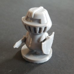 Download free STL files Simple Knight, 3DPrintersaur