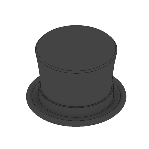 top hat.png Download free STL file Roblox accesories  • 3D printer template, 3DPrintersaur