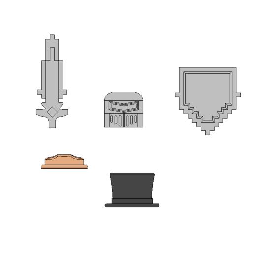 parts.png Download free STL file Roblox accesories  • 3D printer template, 3DPrintersaur