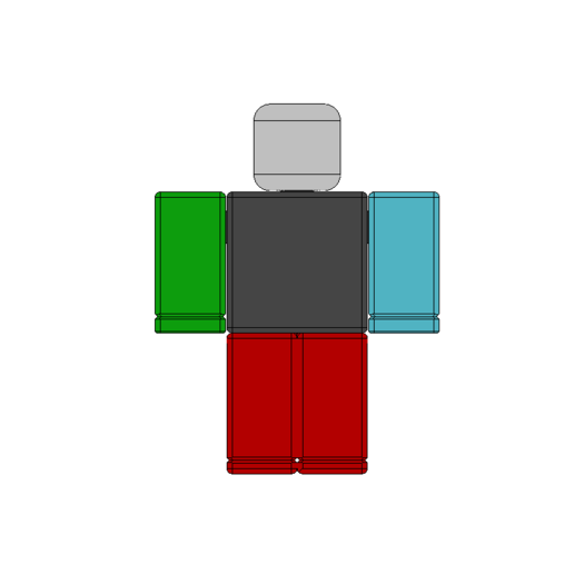 1.png Download free STL file Roblox w/ removeable arms and head • 3D printable object, 3DPrintersaur