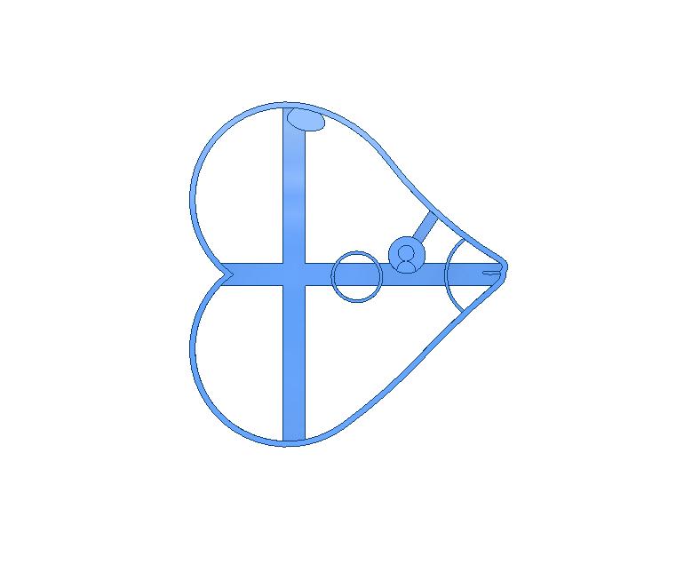 LUVDISC.png Descargar archivo STL Luvdisc pokemon cookie cutter • Diseño para impresión en 3D, 3DPrintersaur