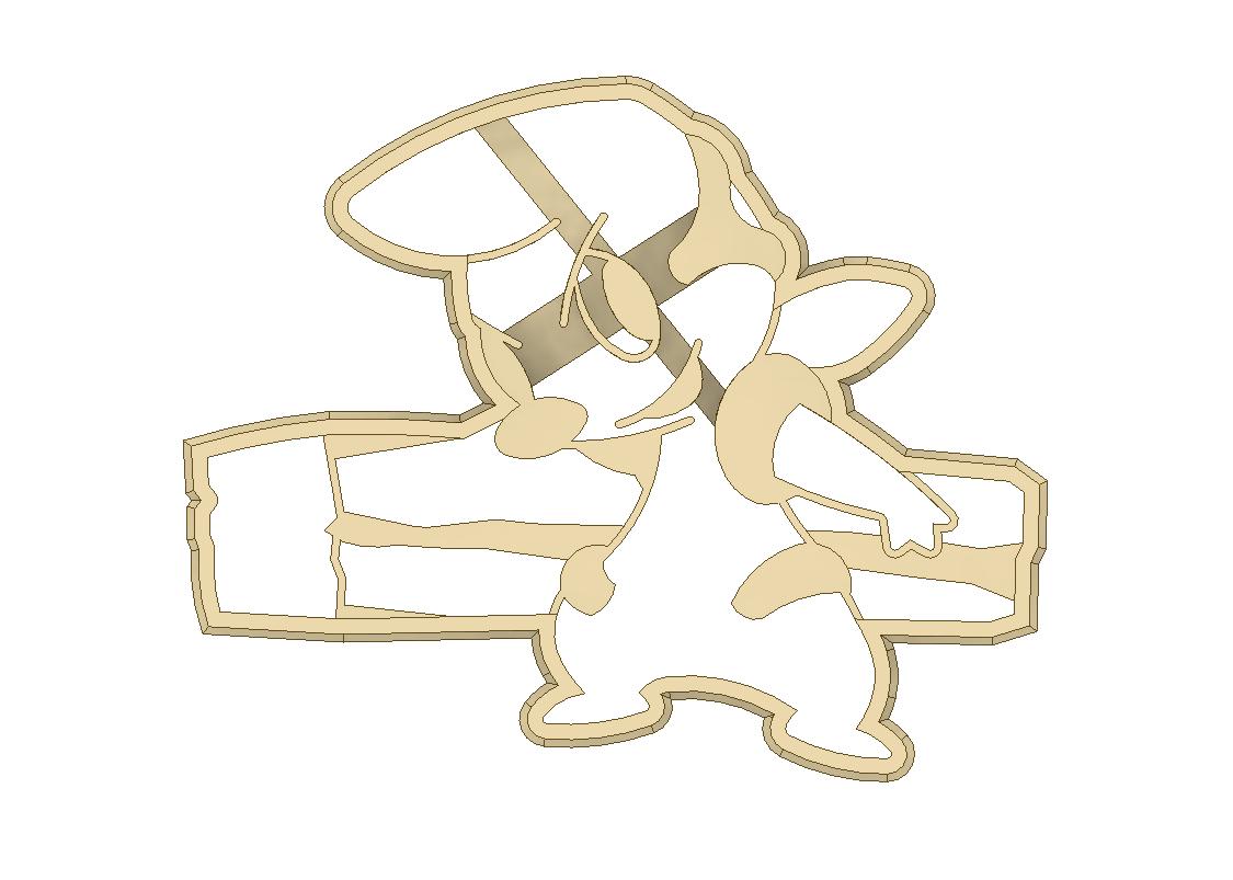 TIMBURR 2.png Descargar archivo STL Timburr Pokemon Cookie Cutter • Objeto para imprimir en 3D, 3DPrintersaur