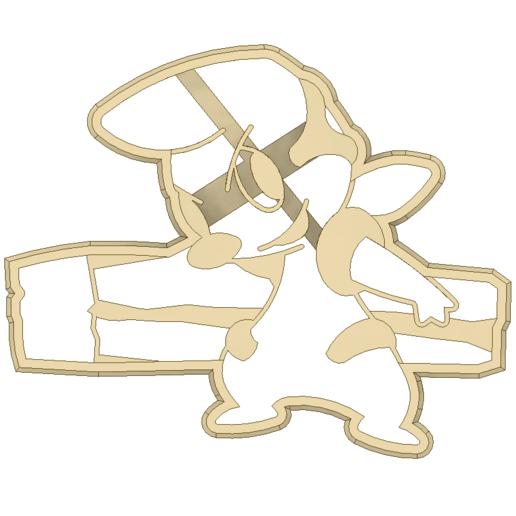 Download STL file Timburr Pokemon Cookie Cutter • Object to 3D print, 3DPrintersaur