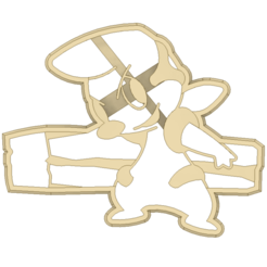 Download STL file Timburr Pokemon Cookie Cutter • Object to 3D print, 3DPrintersaur