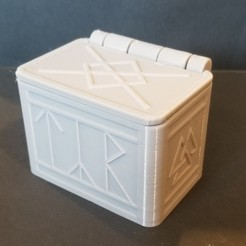 Download free STL file Norse rune box with lid (single print) • Object to 3D print, 3DPrintersaur