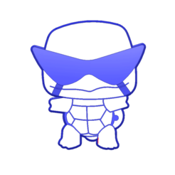 Download STL file Chibi Squirtle • 3D printable design, 3DPrintersaur