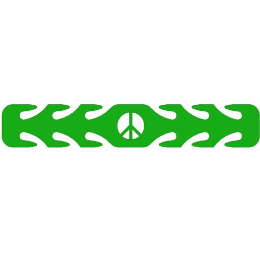 PEACE.png Télécharger fichier STL gratuit masque de paix protecteur d'oreilles • Objet imprimable en 3D, 3DPrintersaur