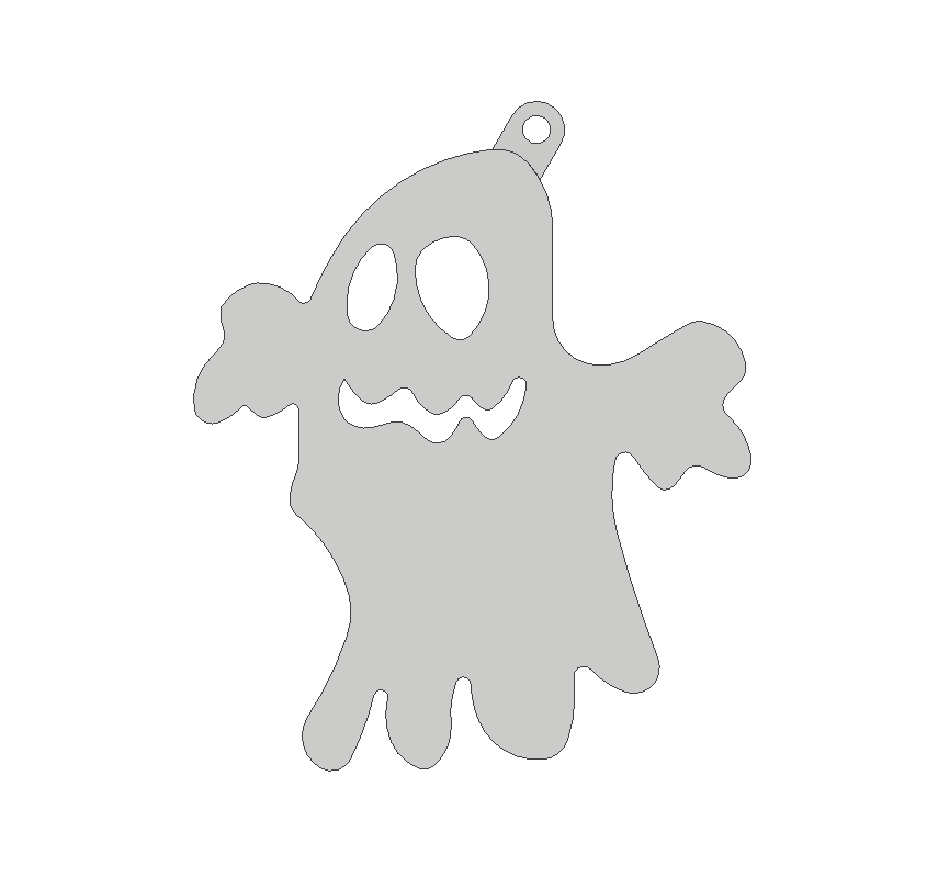 ghost1.png Download free STL file Ghost ornament • 3D printing object, 3DPrintersaur