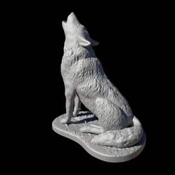 Download 3D printing templates Wolf howling, FuturArt-3D