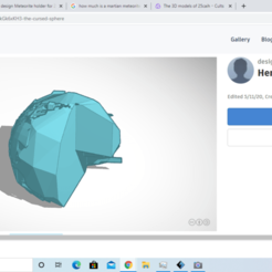 Download free 3D printing models The cursed sphere, 25caih