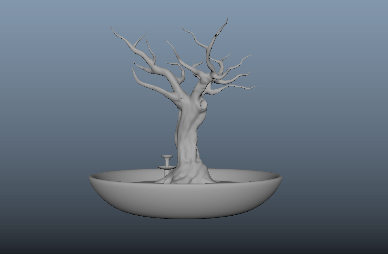 dos arbre.PNG Download free OBJ file Jewellery holder, Decoration, Storage. • 3D printing template, j-idee