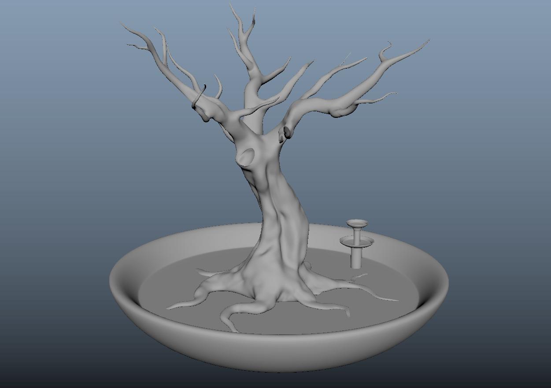 arbre.PNG Download free OBJ file Jewellery holder, Decoration, Storage. • 3D printing template, j-idee