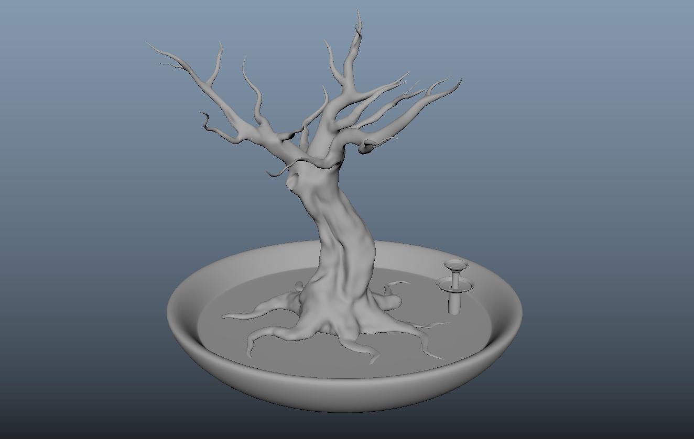 arbre debant.PNG Download free OBJ file Jewellery holder, Decoration, Storage. • 3D printing template, j-idee