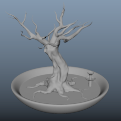 arbre debant.PNG Download free OBJ file Jewellery holder, Decoration, Storage. • 3D printing template, j-idee