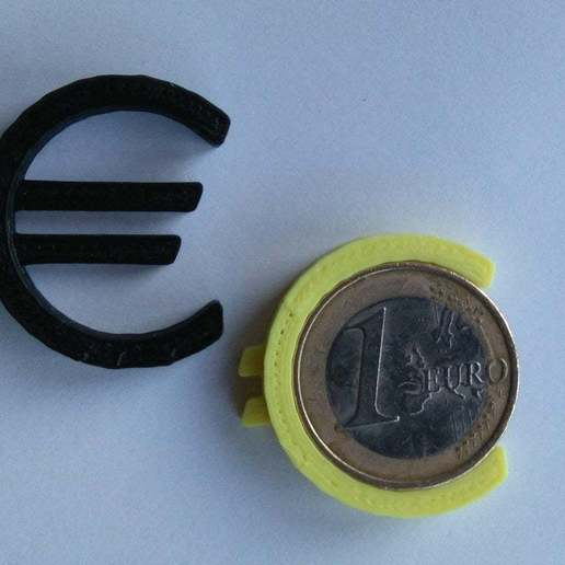 Download free 3D model Euro sign calibration test + keyring, Skdzzz