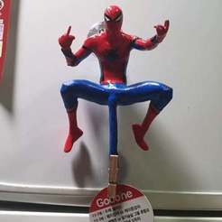 Télécharger plan imprimante 3D gatuit Spiderman te pose Fxxk, Hobbyman