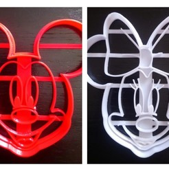 BeFunky-collage.jpg Download STL file Mickey and Minie Mouse cookie cutter • 3D printable template, AldairPadillaG
