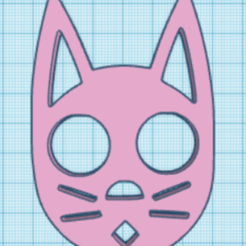 llavero gato.PNG Download free STL file Self defense cat keychain • 3D printer object, AldairPadillaG